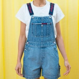 Vintage Tommy hilfiger overall shorts size S